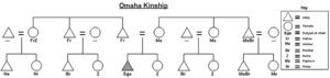 Omaha kinship - Graphic of the Omaha kinship system