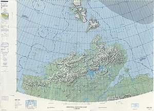 Byrranga Mountains - 1975 map showing the Taymyr Peninsula and Severnaya Zemlya.