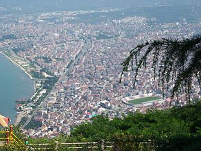 View of Ordu from Boztepe hill