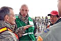 Oregon Army National Guard Lt. Mark Timmons, center, the liaison officer for the Vigilant Guard-Oregon exercise, briefs Dr 120503-A-NY487-033.jpg