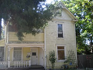 Folk Victorian - The Orin Jordan House in Whittier, California is an example of a Folk Victorian.