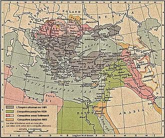 Maniots - A map of the Ottoman Empire.
