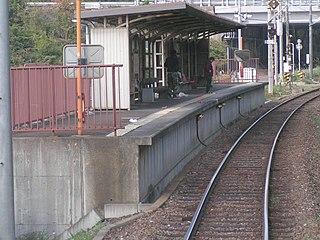Kyocera-mae Station Railway station in Higashiōmi, Shiga Prefecture, Japan