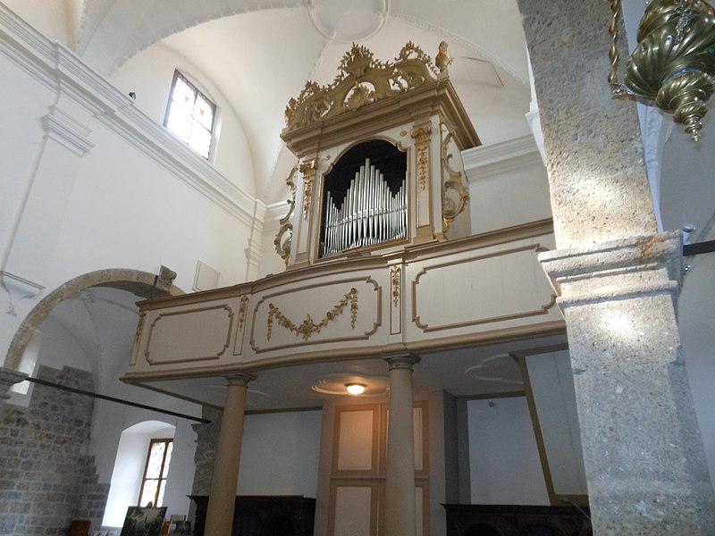 Datei:Ovaro, Pieve di S. Maria di Gorto, organo Giovanni Battista De Corte.jpg