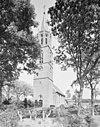overzicht zuidwestgevel met kerktoren en kerkhof - peperga - 20345930 - rce