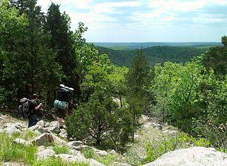 Ozark Trail (hiking trail) - Image: Ozark Trail Goggins Mtn 20130511 1