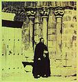 Párroco junto a la colegiata de Cervatos - Cantabria - entre 1855 y 1857 - William Atkinson.jpg