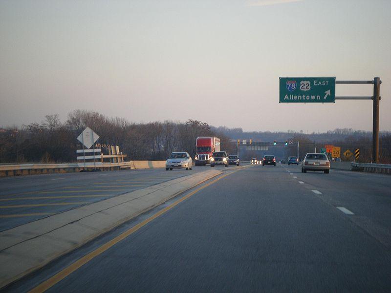 File:PA 61 SB at I-78-US 22 EB exit.JPG