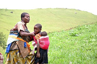 Masisi Territory - War displaced family on the hills of Lushebere in Masisi territory (2015)