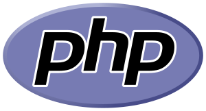 The PHP logo displaying the Handel Gothic font.