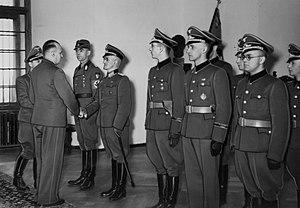 Sonderdienst - Gauleiter Hans Frank and Sonderdienst leaders in Kraków, 1941.