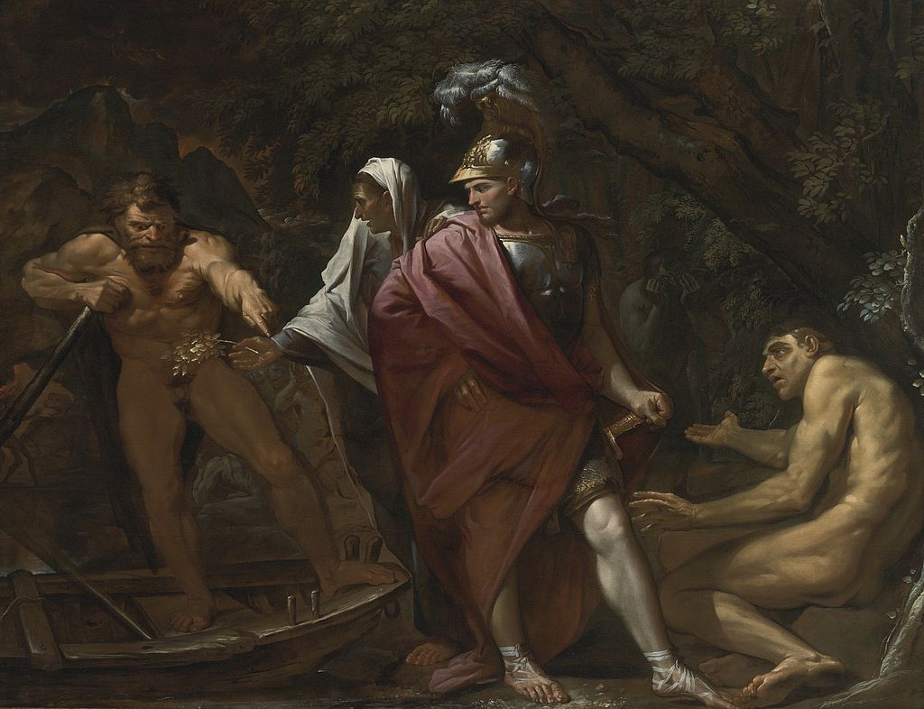 PIETRO TESTA AENEAS ON THE BANK OF THE RIVER STYX