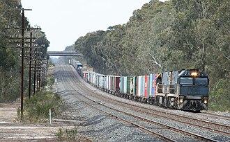 Corridor selection history for Australian high-speed rail - Rail corridor near Seymour