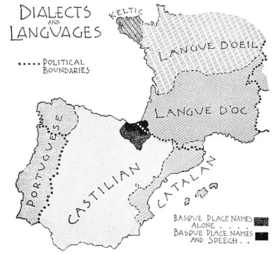 PSM V50 D475 Languages and dialects surrounding Iberia.jpg