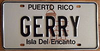 PUERTO RICO 1990'S -SOUVENIR REFLECTIVE LICENSE PLATE - Flickr - woody1778a.jpg