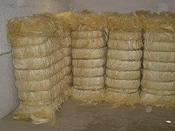Pacas de fibra de henequén (