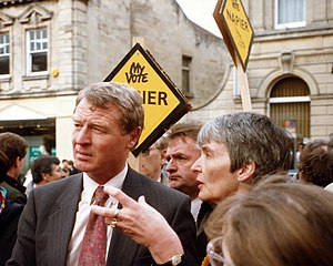 Paddy Ashdown - Paddy Ashdown in Chippenham during the 1992 General Election campaign