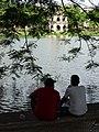 Pair of Men at Hoan Kiem Lake - Old Quarter - Hanoi - Vietnam (48078507691).jpg