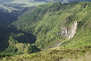 Água de Pau Massif - A view of portion of the Inferior Complex of Água de Pau along the flanks of Ribeira Grande