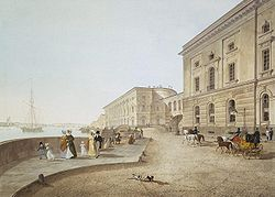 Palace Embankment near Hermitage Theatre (Beggrov).jpg
