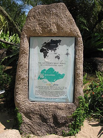 """Pulau Palawan - A sign declaring the islet to be the """"southernmost point of Continental Asia"""""""