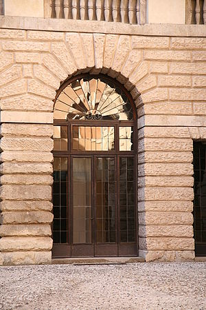Palazzo Thiene - The entrance from the 16th century facade