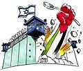 Palestinian prisoners in hunger strike cartoon.jpg