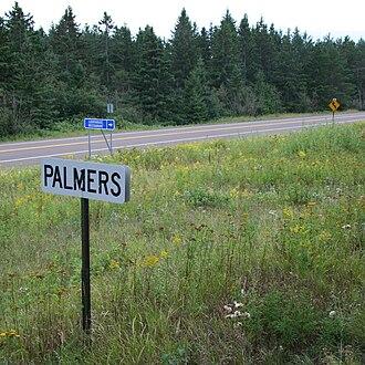 Palmers, Minnesota - Palmers railroad sign