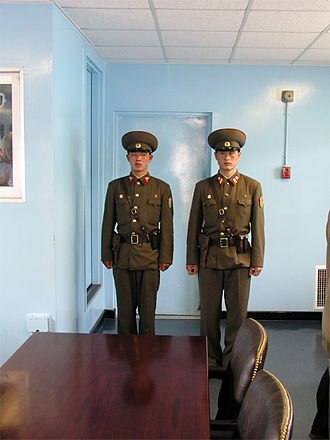 Koreans - North Korean soldiers in the Joint Security Area