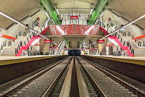 Echeverría (Buenos Aires Underground) - Image: Panorama general de Echeverría