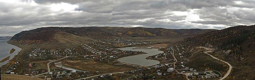 Панорама села с Поповой горы
