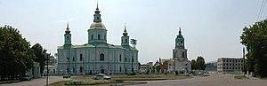 Okhtyrka - Image: Panoramio V&A Dudush Pokrovskiy cathedral Покровский храм