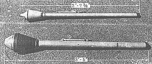 Panzerfaust - Faustpatrone 30 (top) and Panzerfaust 60 (bottom)