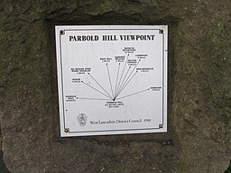 Parbold Hill viewpoint plaque