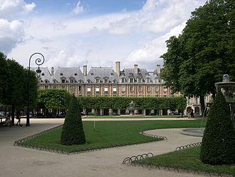 Place des Vosges - Image: Paris Place Des Vosges Ouest