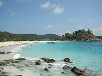 Kuala Nerus District - Pasir Panjang beach on Redang Island. It is one of the major tourist islands in the country.