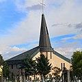 Pata - Kostol Narodenia Panny Márie, nový, zo zadnej strany.jpg