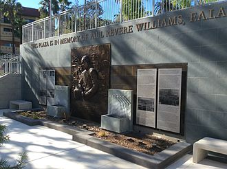 Paul Williams (architect) - Memorial to Paul R Williams north of the Golden State Mutual Life Insurance Building dedicated October, 2015