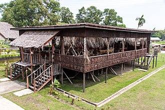 Murut people - Traditional Murut longhouse in Penampang, Sabah, Malaysia.
