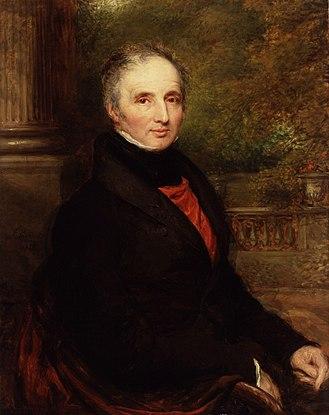 Peter King, 7th Baron King - Peter King, 7th Baron King of Ockham, portrait by John Linnell from 1832
