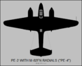 Petlyakov Pe-2 (M-82FN engines) top-view silhouette.png