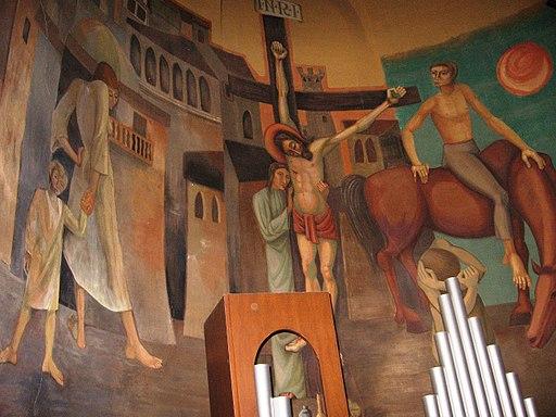 Pezzolo Valle Uzzone.Santuario del Todocco Affresco dell'abside