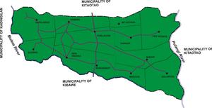 Dangcagan, Bukidnon - Political map of Dangcagan, showing its 14 barangays