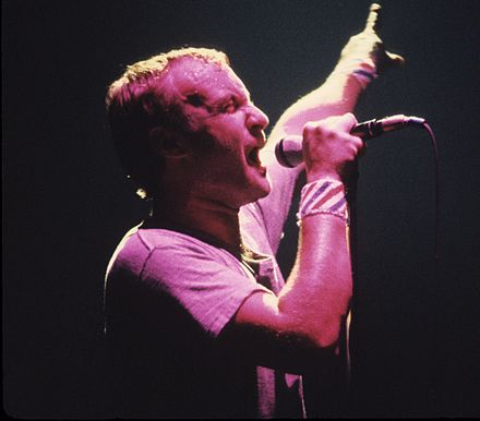 Collins performing in 1981. Phil Collins 1981.jpg