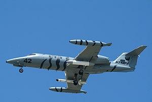 Phoenix Air - A Phoenix Air Learjet 35 approaching Naval Air Station North Island (2009).