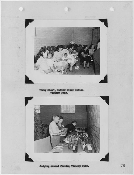 File:Photographs, with captions, of baby show and canned food judging at Victory Fair, Walker River, Nevada, from Carson... - NARA - 296186.jpg