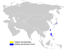 Phylloscopus ijimae distribution map.png