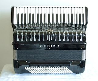 Piano accordion accordion with right-hand piano-style keyboard