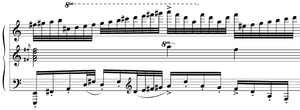 Piano Concerto No. 2 (Prokofiev) - The colossale portion of the cadenza is profuse with giant runs and large chords.