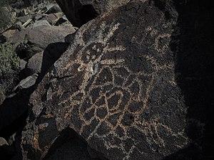 Picacho, Arizona - Petroglyphs in the Picacho Mountains, near Picacho Peak State Park.